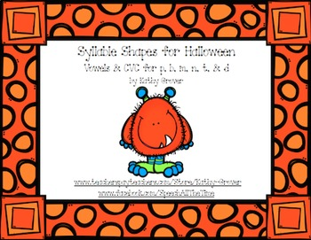 Syllable Shapes for Halloween
