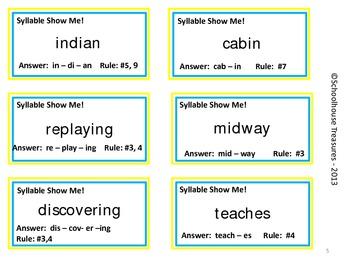 Syllable Show Me! - A Cooperative Syllable Game