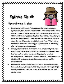 Syllable Sleuth