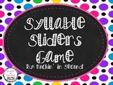Syllable Sliders Game