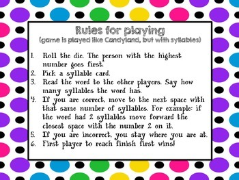 Syllable Sliders Game