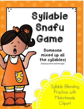 Syllable Snafu (Syllable Blending) Melonheadz Style (for RtI)