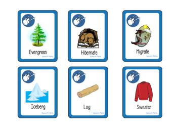FREEBIE! Syllable Segmentation Game: Winter Vocabulary