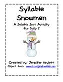 Syllable Snowmen: Syllable Sort Word Work Activity