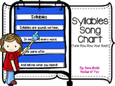 Syllable Song/Chant for pocket chart or poster board