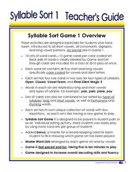 Syllable Sort 1