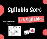 Syllable Sort - 1-4 syllables