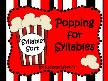 Syllable Sort  1 or 2 syllable words
