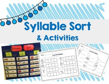 Syllable Sort & Activities {RF.K.2}