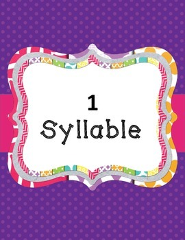 Syllable Sort - Animal Words with Sorting Mats
