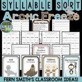 Winter Arctic Freeze Syllable Sort Center Games