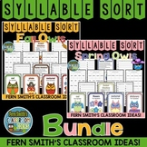 Fall and Spring Owls Syllable Sort Center Games Bundle