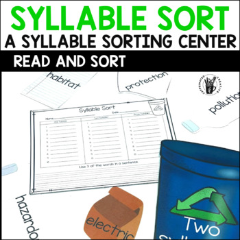 Syllable Sort Center Game