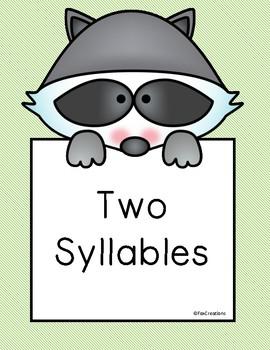 Syllable Sort Center - Literacy ~ English Language Arts ~ Easy Prep