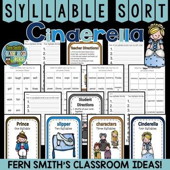 Cinderella Syllable Sort Center Games