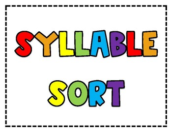 Syllable Sort - Color and B&W