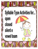 Syllable Sort Cooperative Learning Unit