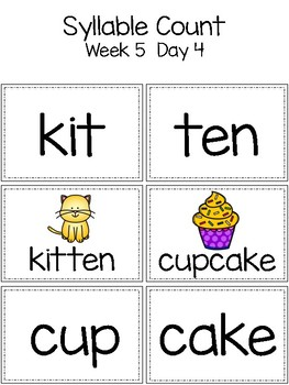 Syllable Sort & Count {Word Play for Kindergarten}