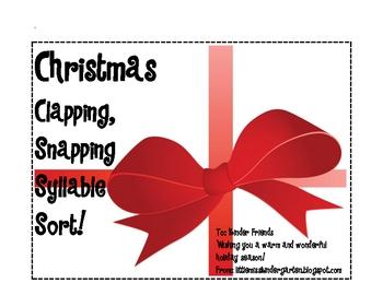 Syllable Sort For Christmas