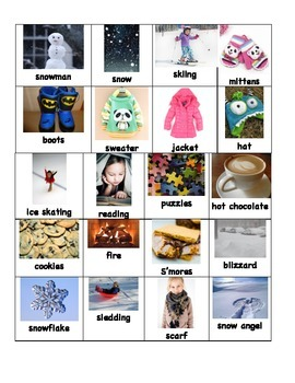 Syllable Sort Game (Winter Theme)