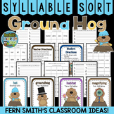 Groundhog Day Syllable Sort Center Games