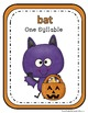 Halloween Syllable Sort Center Games