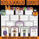 Halloween Syllable Sort Center Games