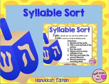 Syllable Sort (Hanukkah Edition) FREEBIE