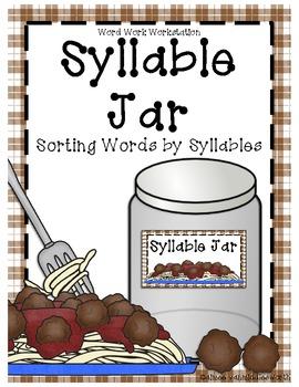 Syllable Sort Jar for Word Work Workstation