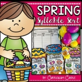 Syllable Sort: Spring Center FREEBIE!