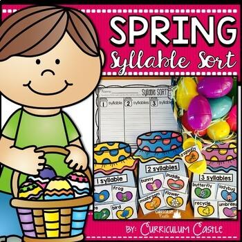 Syllable Sort: Spring Center FREEBIE!