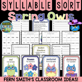 Spring Syllable Sort Center Games