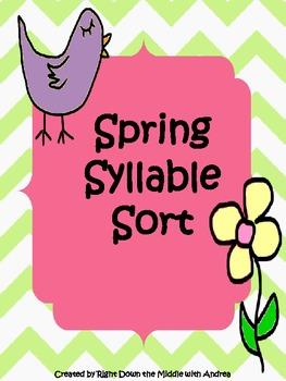 Syllable Sort {Spring Theme}