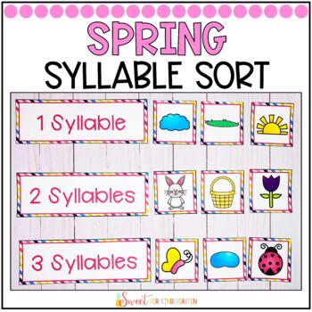Syllable Sort {Spring Themed}