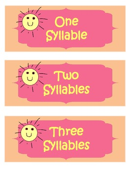 Syllable Sort {Summer Theme}