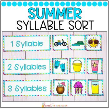 Syllable Sort {Summer Themed}