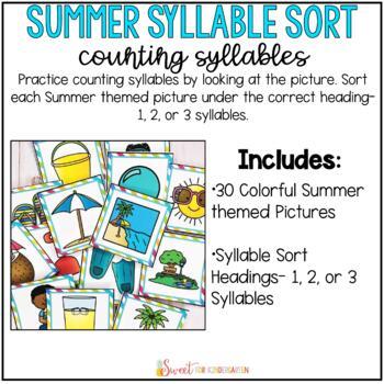 Summer Syllable Sort