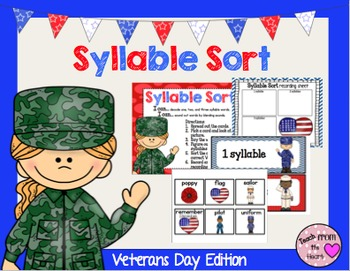 Syllable Sort (Veterans Day Edition)