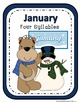 Winter Animals Syllable Sort Center Games
