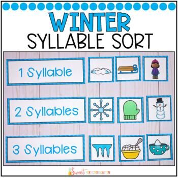 Syllable Sort {Winter Themed}