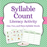 Syllable Counting Activity and Worksheet