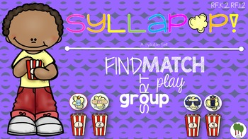 Syllables Sort and Match - Syllable Game