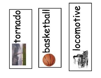 Kindergarten Syllable Sort for Pocket Chart (reworked)