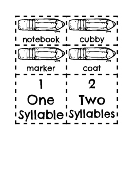 Syllable Sort for the Beginning of the Year