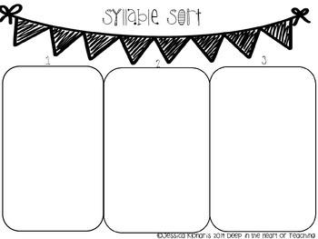 Syllable graphic organizer