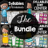 Syllable Sorting Activities Bundle