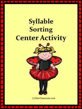 Syllable Sorting Center Activity
