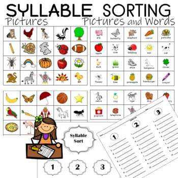 Syllable Sorting Center Game