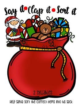 Syllable Sorting - Christmas