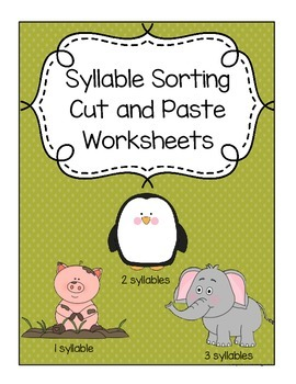Syllable Sorting Cut and Paste Worksheets